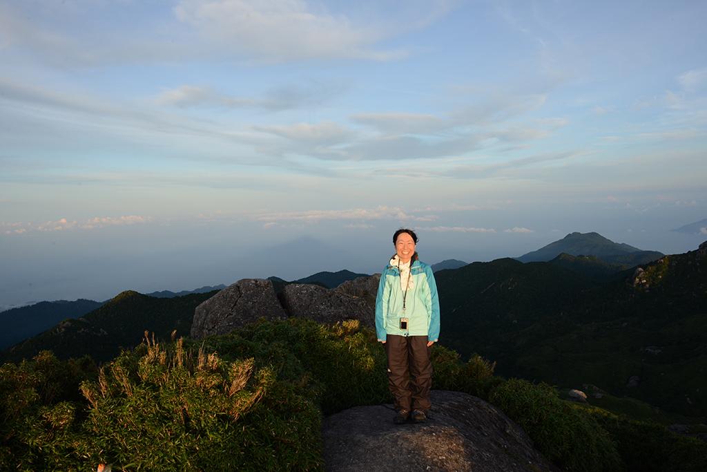 リピーターでも、海に写る宮之浦岳を二度見た人はSさんだけ