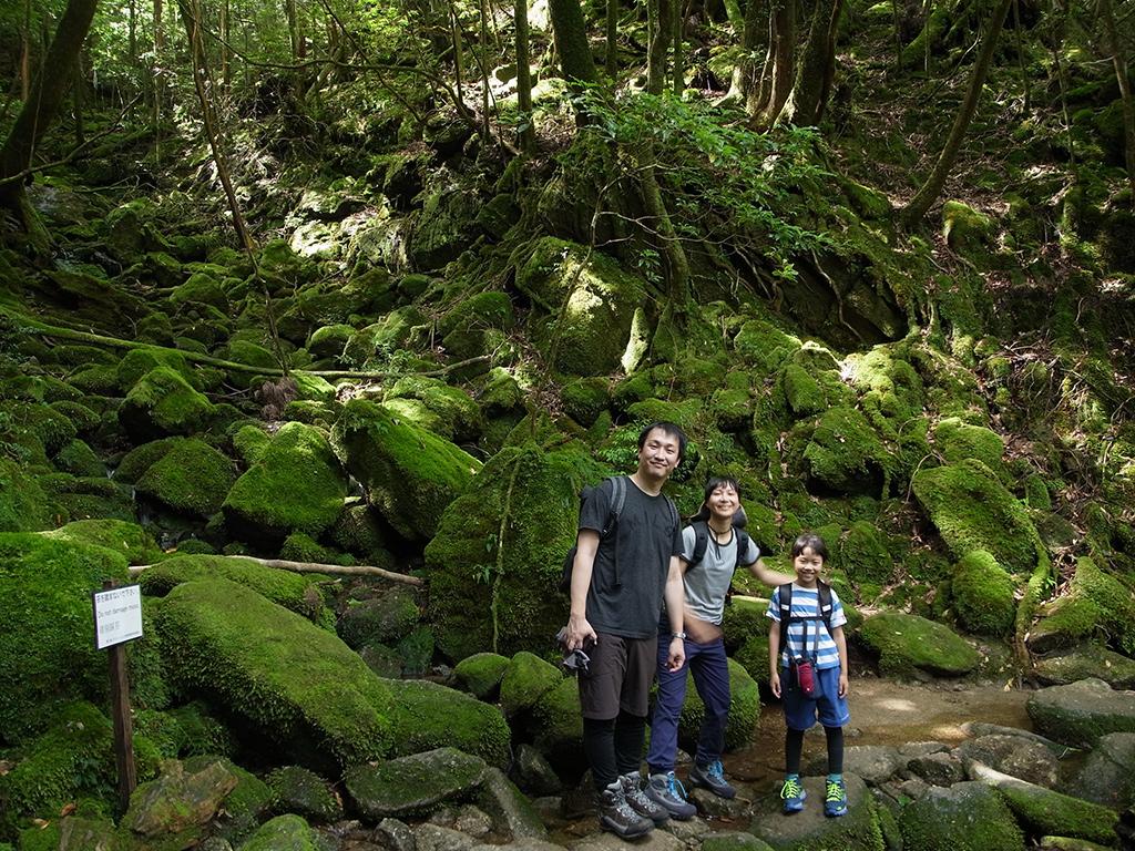 白谷雲水峡にて、ご家族で素敵な笑顔。