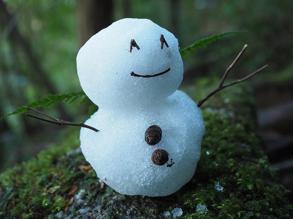渾身の出来となったチビ雪だるまちゃん