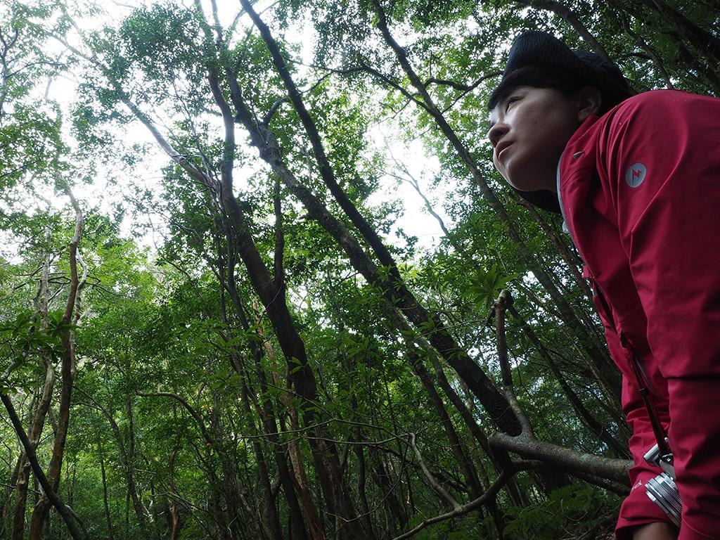たまに差し込む木漏れ日を待っている間にコッソリと撮った参加者の横顔写真