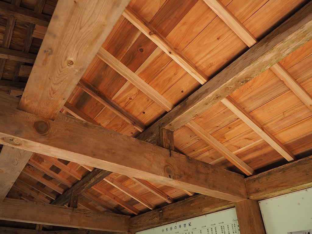小杉谷休憩舎の屋根張り替え完成写真