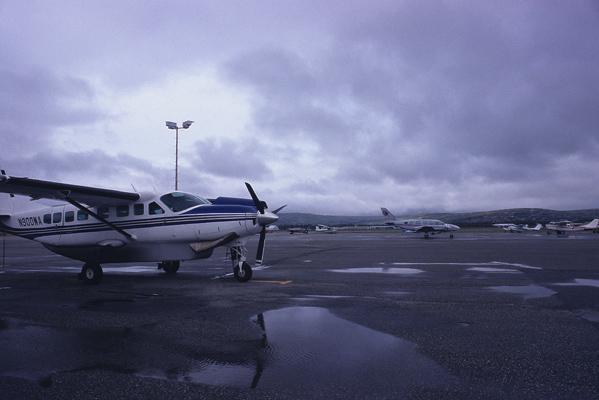 フェアバンクスからベテルス行きのセスナ機写真