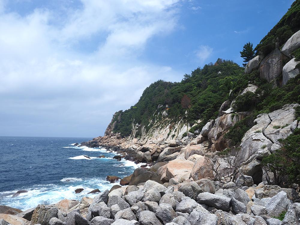 八代龍王碑近くから見た海岸線